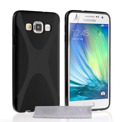 Θήκη σιλικόνης για Samsung Galaxy A3 μαύρη  by YouSave Accessories και  screen protector