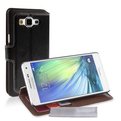 Θήκη- πορτοφόλι  για Samsung Galaxy A5 by YouSave Accessories  μαύρη και δώρο screen protector