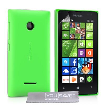 Θήκη για Microsoft Lumia 435 by YouSave Accessories διάφανη και screen protector