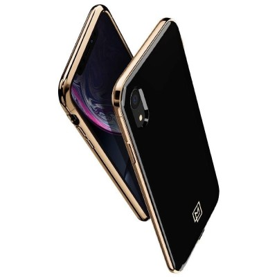 Spigen Θήκη La Manon Etui iPhone XR - Gold Black (064CS25311)