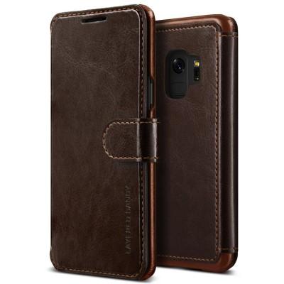 Verus Δερμάτινη Θήκη Samsung Galaxy S9 - Πορτοφόλι Καφέ σκούρο  (200-103-040)