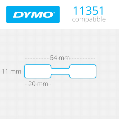 DYMO Jewelry Labels 11mm x 54mm 1500 τεμ (11351)