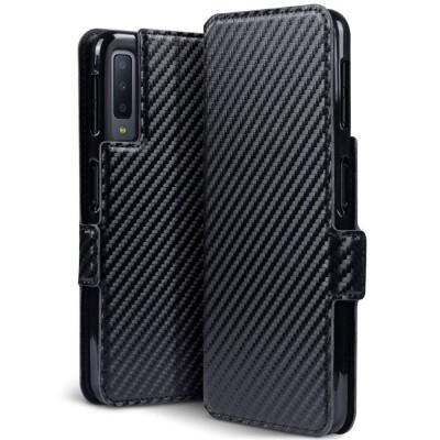 Terrapin Low Profile Θήκη - Πορτοφόλι Carbon Fibre Samsung Galaxy A7 2018 - Black (117-002a-092)
