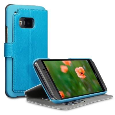 Θήκη HTC One M9 γαλάζιο  - Πορτοφόλι by Covert (117-028-249)