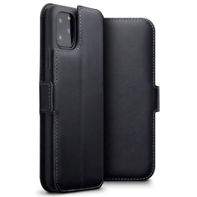 Terrapin Low Profile Δερμάτινη Θήκη - Πορτοφόλι iPhone 11 Pro Max - Black (117-131-001)