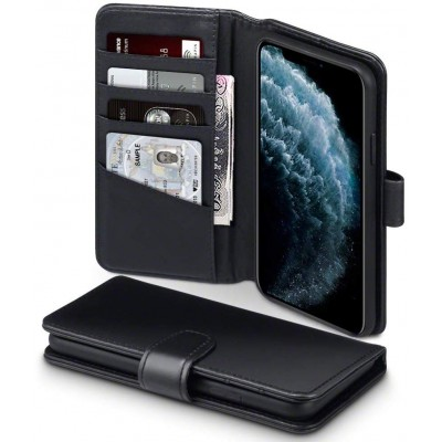 Terrapin Δερμάτινη Θήκη - Πορτοφόλι iPhone 11 Pro Max - Black (117-131-002)
