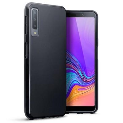 Terrapin Θήκη Σιλικόνης Samsung Galaxy A7 2018 - Solid Black Matte Finish (118-002-727)