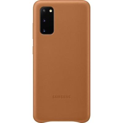 Official Samsung Δερμάτινη Θήκη Samsung Galaxy S20 - Brown (EF-VG980LAEGEU)