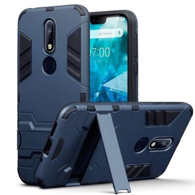 Terrapin Ανθεκτική Dual Layer Θήκη Nokia 7.1 - Blue (131-001-043)