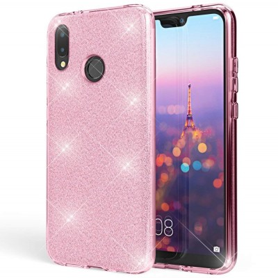 Shining Glitter Case για Huawei P Smart 2019 Pink - OEM(200-103-833)