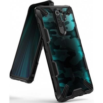 Ringke Fusion-X Θήκη Xiaomi Redmi Note 8 Pro - Camo Black / Transparent (200-104-664)