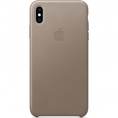 Official Apple Δερμάτινη Θήκη iPhone XS Max - Taupe (MRWR2ZM/A)