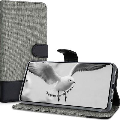 KW Θήκη Πορτοφόλι Samsung Galaxy A52 - Grey/Black (200-107-816)