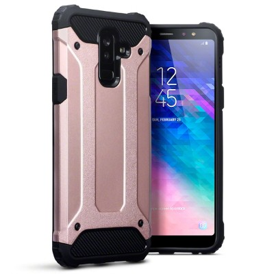 Terrapin Ανθεκτική Θήκη Impact Shock Samsung Galaxy A6 Plus 2018 - Rose Gold (131-002-105)