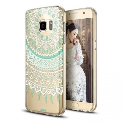ESR Galaxy S7 Edge Totem Series Mint Mandala  (200-103-553)