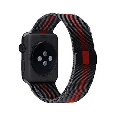 Milanese Loop Red Stripe για Apple Watch 42mm & 44mm