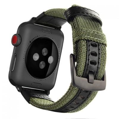 Kakapi Jeep Style Nylon Army Green Λουράκι Apple Watch 42/44mm