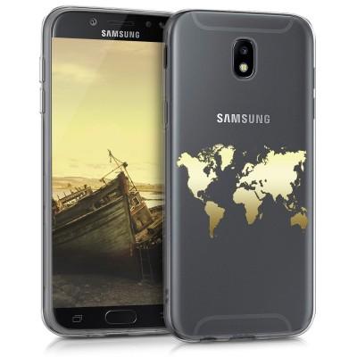 Θήκη σιλικόνης για Samsung Galaxy J5 (2017) World Map by KW ( 200-102-413)
