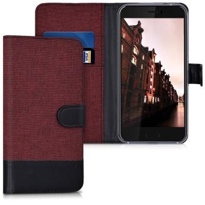 Θήκη- Πορτοφόλι για HTC U11 κόκκινο-μαύρο by KW (200-102-268)