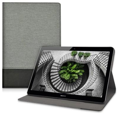 Θήκη-smart cover με stand 360° για Huawei MediaPad T3 10 γκρί-μαύρη by KW (200-102-652)