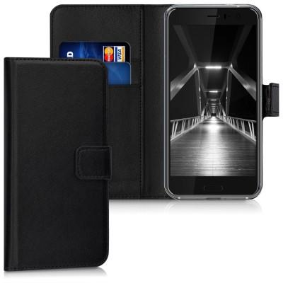 Θήκη-Πορτοφόλι για HTC U11 μαύρη by KW (200-102-239)