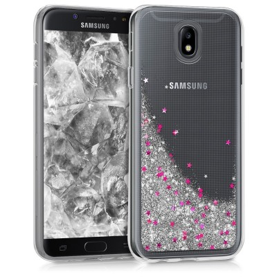 Θήκη Samsung Galaxy J7(2017) διάφανη με υγρό glitter by KW (200-102-531)