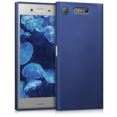 Θήκη σιλικόνης Metallic Blue για Sony Xperia XZ1 by KW (200-102-441)