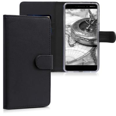 Θήκη-Πορτοφόλι για Nokia 6 (2018) μαύρο by KW (200-102-942)
