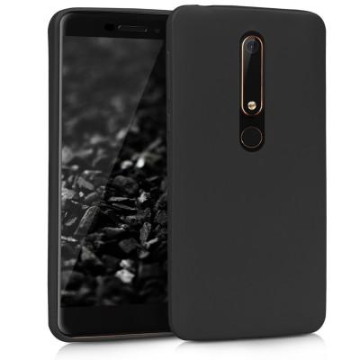 Θήκη σιλικόνης μαύρη matte για Nokia 6 (2018) by KW ( 200-102-935)