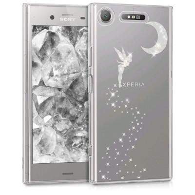 Θήκη σιλικόνης διάφανη Fairy για Sony Xperia XZ1 Silver/Transparent  by KW (200-103-633)