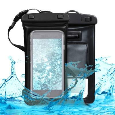 KW Universal Αδιάβροχη Θήκη Πουγκί για Smartphones έως 5.5'' - Black (200-102-734)