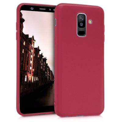 Θήκη σιλικόνης κόκκινη για Samsung Galaxy A6 Plus (2018) by KW ( 200-102-929)