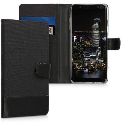 Θήκη-Πορτοφόλι για Samsung Galaxy A6 Plus (2018) μαύρο by KW (200-103-094)