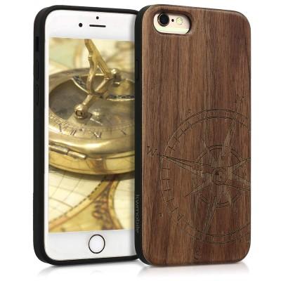 KW Ξύλινη Θήκη iPhone 6 / 6S - Compass Brown (45531.02)