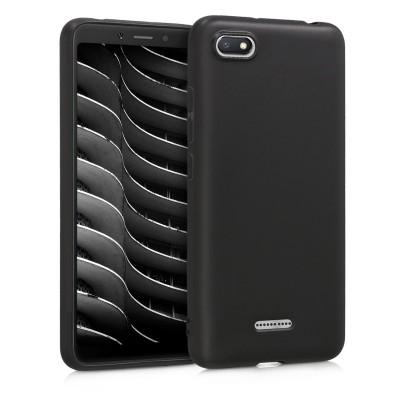 Θήκη σιλικόνης μαύρη για Xiaomi Redmi 6A by KW (200-103-429)
