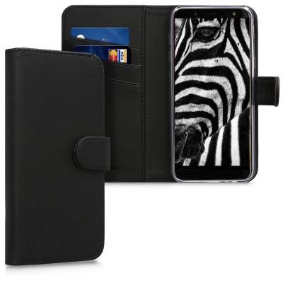 Θήκη-Πορτοφόλι για Samsung Galaxy J6(2018) μαύρο by KW (200-103-089)