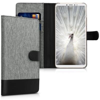 Θήκη-Πορτοφόλι για Xiaomi Mi Max 3 γκρι by KW (200-103-425)
