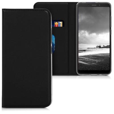 Θήκη-Πορτοφόλι για Xiaomi Redmi 6A μαύρο με stand by KW (200-103-430)