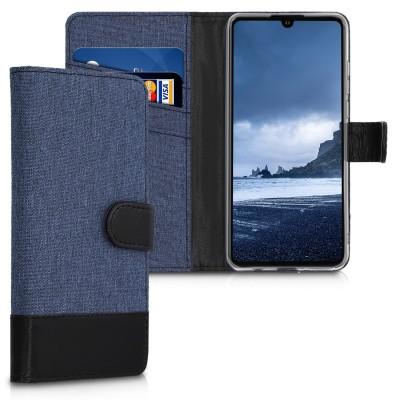 Θήκη πορτοφόλι Dark Blue / Black για Huawei P30 Lite by KW (200-104-551)