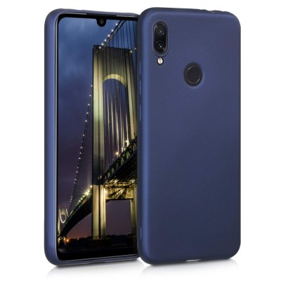 Θήκη σιλικόνης Metallic Blue για Xiaomi Redmi Note 7 by KW (200-104-224)