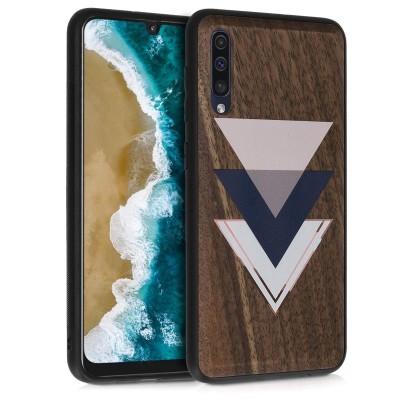 KW Σκληρή Ξύλινη Θήκη - Samsung Galaxy A50 - Wood and Triangles (200-103-781)