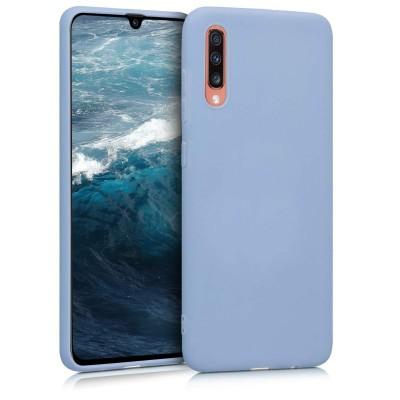 KW Θήκη Σιλικόνης Samsung Galaxy A70 - Light Blue Matte - (200-103-979)