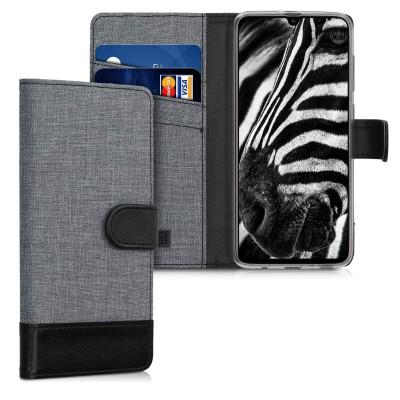 KW Θήκη Πορτοφόλι Samsung Galaxy A70 - Grey/Black (200-103-978)