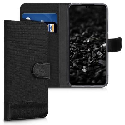 Θήκη-Πορτοφόλι για Xiaomi Redmi Note 7  Μαύρο Ανθρακί by KW (200-104-158)