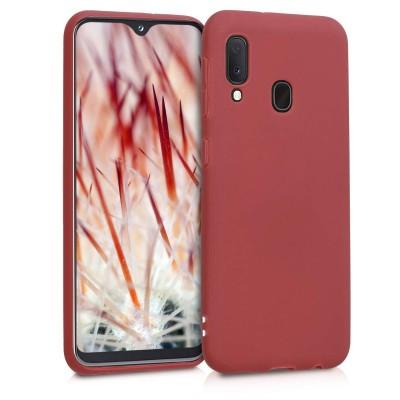 KW Θήκη Σιλικόνης Samsung Galaxy A20e - Maroon Red (200-104-872)