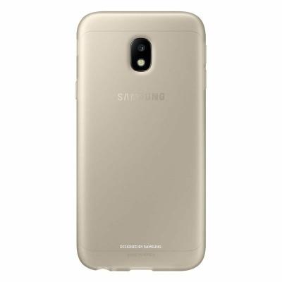 Samsung Official Jelly Cover - Ημιδιαφανή Θήκη Σιλικόνης Samsung Galaxy J3 2017 - Gold (EF-AJ330TFEGWW)