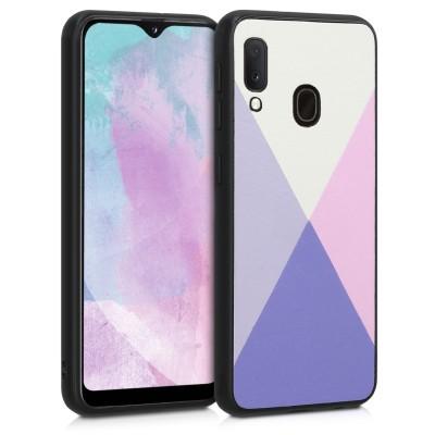 KW Θήκη Σιλικόνης Samsung Galaxy A20e - White / Light Blue / Dusty Pink (200-104-922)