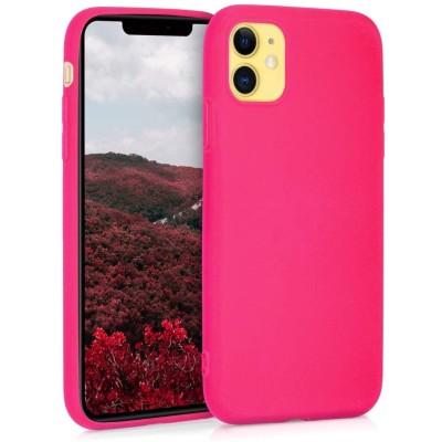 KW Θήκη Σιλικόνης iPhone 11 - Neon Pink (200-104-375)