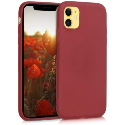 KW Θήκη Σιλικόνης iPhone 11 - Red Matte (200-104-400)