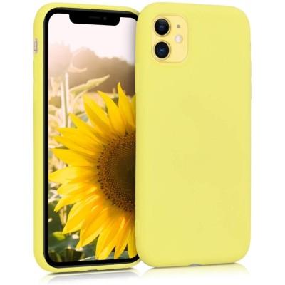 KW Θήκη Σιλικόνης iPhone 11 - Pastel Yellow Matte (200-104-394)